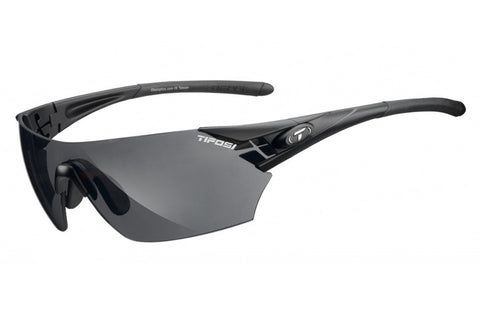 Tifosi - Podium Matte Black Sunglasses, Interchangeable AC Red / Clear / Smoke Lenses