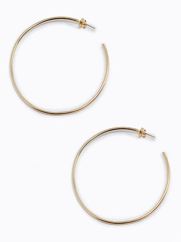 ABLE - Primary Hoops Gold Earrings