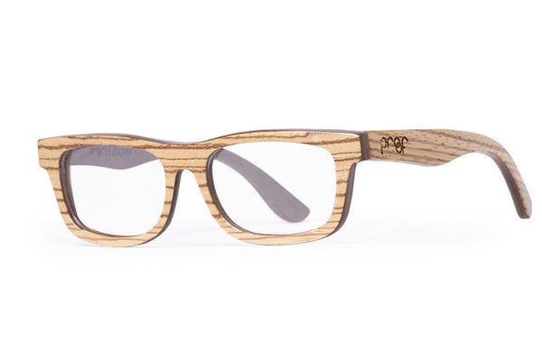 Proof - Loom Wood Zebra Rx Glasses