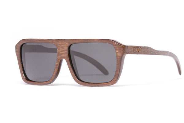 Proof Bud Stained Bamboo Sunglasses, Grey Lenses