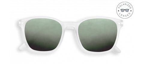 Izipizi - Nautic White Sunglasses / Green Polarized Lenses