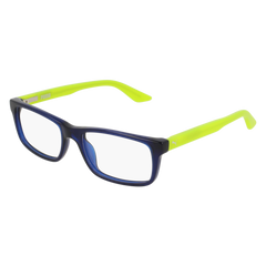 Puma - PJ0009O Junior Blue + Green Eyeglasses / Demo Lenses