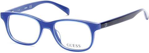 Guess - GU9163 Shiny Blue Eyeglasses / Demo Lenses