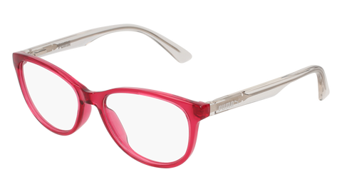 Puma - PJ0018O Junior Pink + Crystal Eyeglasses / Demo Lenses