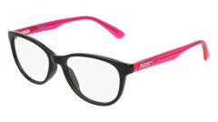 Puma - PJ0018O Junior Black + Fuchsia Eyeglasses / Demo Lenses