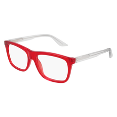 Puma - PJ0008O Junior Red + Crystal Eyeglasses / Demo Lenses