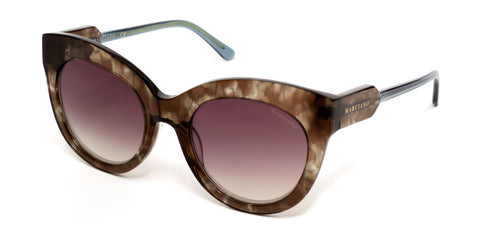 Marciano - GM0787 Havana Sunglasses / Gradient Violet Mirror  Lenses