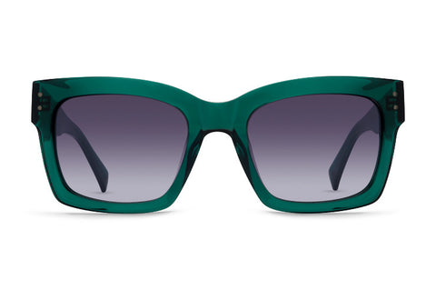 VonZipper - Roscoe Translucent Emerald Sunglasses / Grey Gradient Lenses