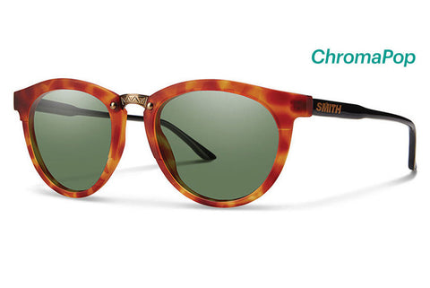Smith Questa Matte Honey Tortoise / Black Sunglasses, ChromaPop Polarized Gray Green Lenses