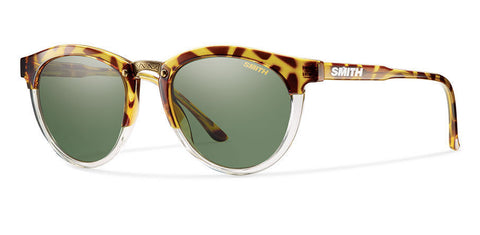 Smith - Questa Amber Tortoise Sunglasses, Polarized Gray Green Lenses