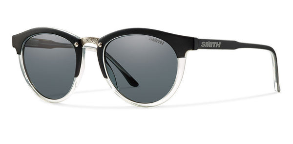 Smith - Questa Matte Black Crystal Sunglasses, Polarized Gray Lenses