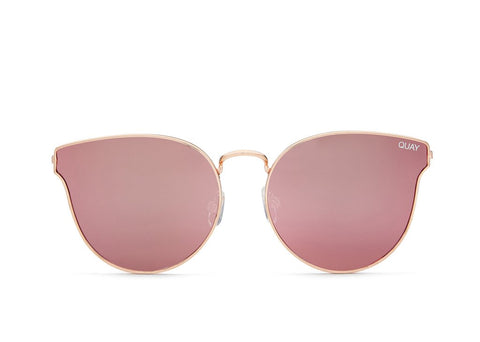 Quay All My Love Rose Gold / Pink Sunglasses