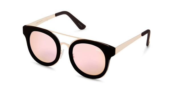 Quay Brooklyn Black / Pink Sunglasses