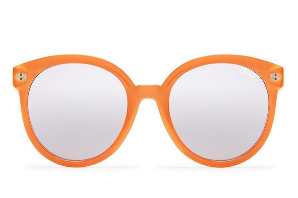 Quay High Tea Tangerine / Silver Mirror Sunglasses