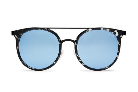 Quay Kandygram Black Tort / Blue Sunglasses