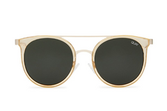 Quay Kandygram Gold / Green Sunglasses