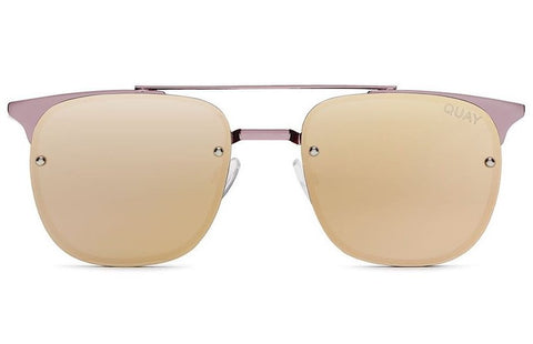 Quay Private Eyes Pink / Rose Sunglasses