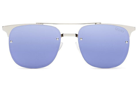 Quay Private Eyes Silver / Violet Sunglasses