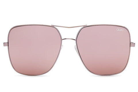 Quay Stop & Stare Pink Sunglasses