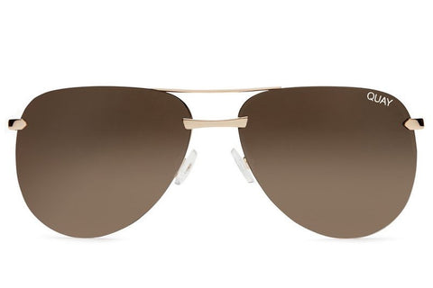 Quay The Playa Gold / Brown Sunglasses