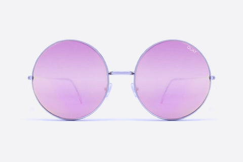 Quay Dynasty Silver / Pink Sunglasses