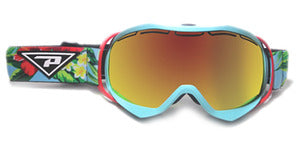 Peppers - Powder Hound Aqua Snow Goggles / Bronze Fire Mirror Lenses