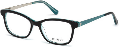 Guess - GU9177 Shiny Black Eyeglasses / Demo Lenses