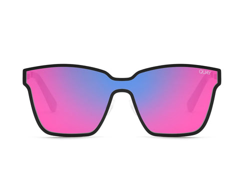 e5994bd4834 Quay After Dark Black Sunglasses   Purple Pink Mirror Lenses