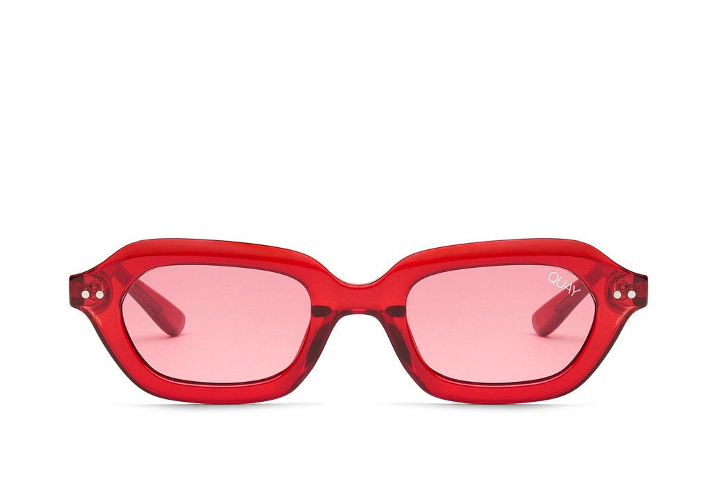 f1d4a5d3558 Quay Anything Goes Red Sunglasses   Red Lenses