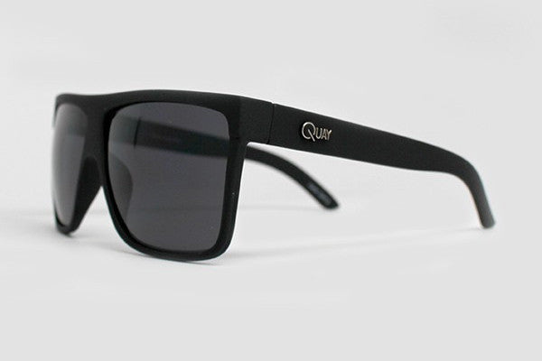 Quay Barnun Black Sunglasses, Smoke Lenses