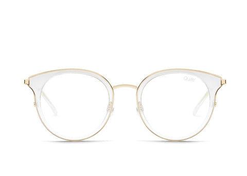Quay Cryptic Clear Eyeglasses / Clear Blue Light Lenses