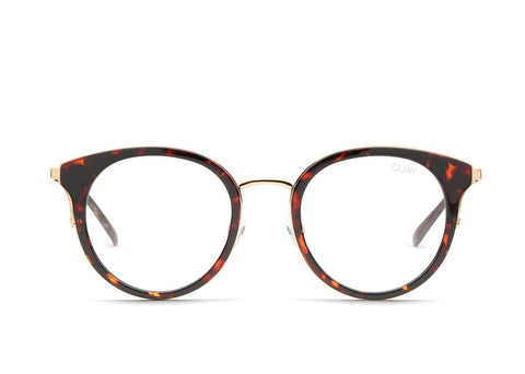 Quay Cryptic Tortoise Eyeglasses / Clear Blue Light Lenses