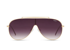 Quay Jennifer Lopez #QUAYXJLO El Dinero Gold Sunglasses / Purple Fade Lenses
