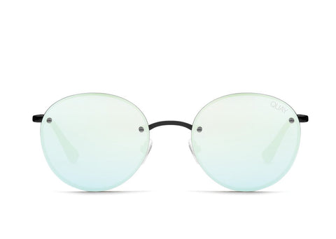 Quay Farrah Black Sunglasses / Mint Lenses