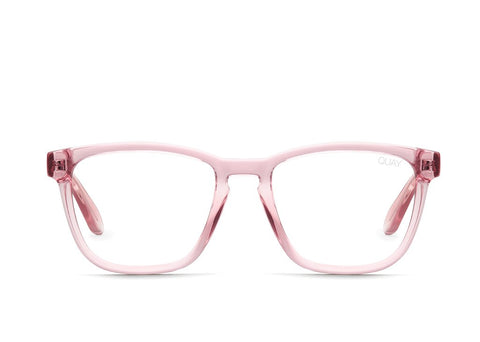 24d2f017f60 Quay Hardwire Pink Eyeglasses   Clear Blue Light Lenses
