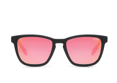 Quay Hardwire Black Sunglasses / Orange Red Lenses