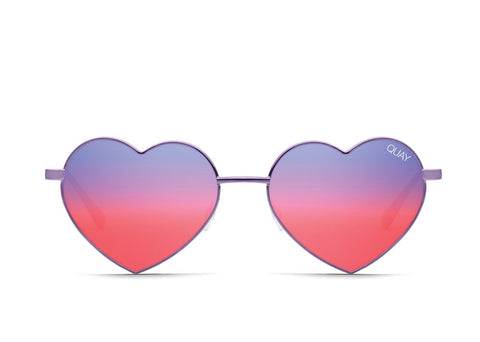 Quay Heartbreaker Purple Sunglasses / Purple Pink Lenses