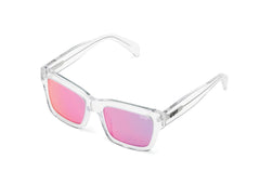 Quay In Control Clear Sunglasses / Purple Pink Lenses