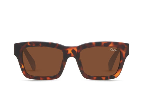 Quay In Control Matte Tortoise Sunglasses / Brown Lenses
