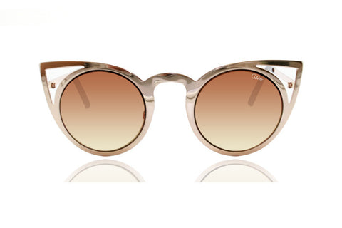 Quay Invader Gold Sunglasses
