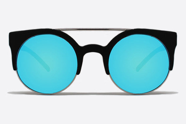 Quay Livnow Black / Blue Sunglasses