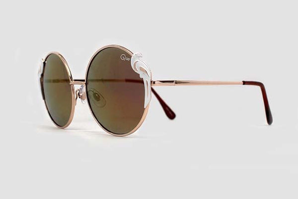 Quay Poly Gold Sunglasses