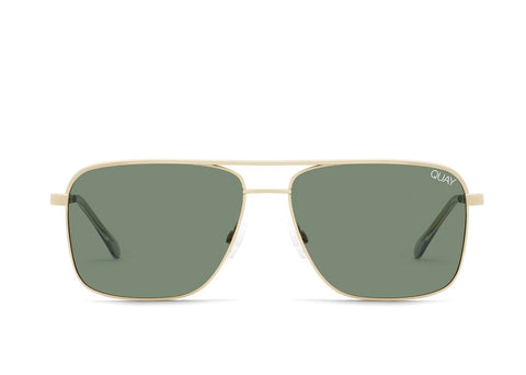 Quay Alex Rodriguez #QUAYXAROD Poster Boy Gold Sunglasses / Green Lenses