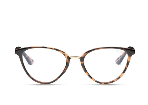 Quay Rumours Tortoise Eyeglasses / Clear Blue Light Lenses