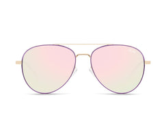 Quay Single Purple Sunglasses / Light Pink Lenses