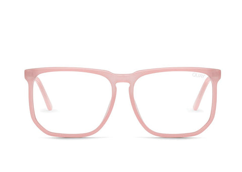 Quay Stranger Pink Eyeglasses / Clear Blue Light Lenses