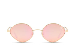 Quay Wild Night Gold Sunglasses / Peach Pink Lenses