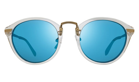 Revo - Quinn 51mm Crystal Sunglasses / Revo Blue Lenses