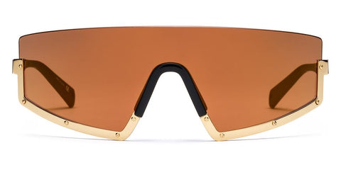 Westward Leaning - STUN 02 Polished Gold Sunglasses / Muted Gold Mirror Lenses