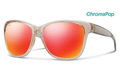Smith - Ramona Desert Crystal Smoke Sunglasses, ChromaPop Sun Red Mirror Lenses